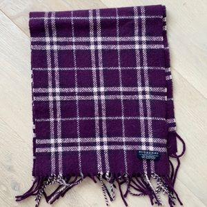 Authentic Burberry purple checked scarf